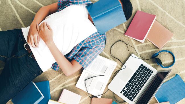 Symbolbild Stress Schule Lernen